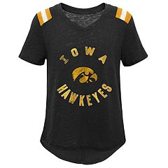 Girls 7-16 Iowa Hawkeyes Retro Block Slubbed Vintage Tee