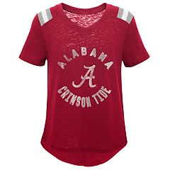Girls 7-16 Alabama Crimson Tide Retro Block Slubbed Vintage Tee