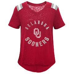 Girls 7-16 Oklahoma Sooners Retro Block Slubbed Vintage Tee