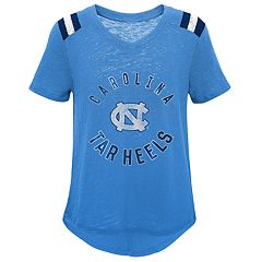 Girls 7-16 North Carolina Tar Heels Retro Block Slubbed Vintage Tee