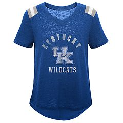 Girls 7-16 Kentucky Wildcats Retro Block Slubbed Vintage Tee