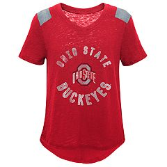Girls 7-16 Ohio State Buckeyes Retro Block Slubbed Vintage Tee