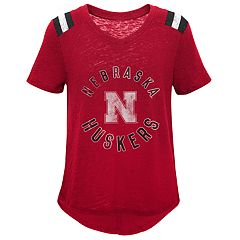 Girls 7-16 Nebraska Cornhuskers Retro Block Slubbed Vintage Tee