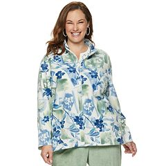 Plus Size Alfred Dunner Studio Floral Fleece Jacket