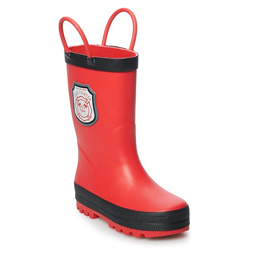 Carter's Fire Toddler Boys' Waterproof Rain Boots