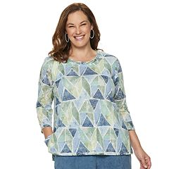 Plus Size Alfred Dunner Studio Stained Glass Top