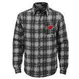 Boys 8-20 Wisconsin Badgers Sideline Plaid Shirt