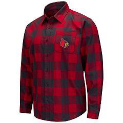 Men's Louisville Cardinals Plaid Flannel Shirt