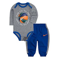 Baby Boy Nike Basketball Bodysuit & Jogger Pants Set