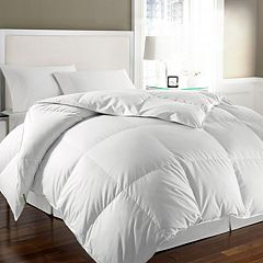 Kathy Ireland Microfiber White Goose Feather Down Comforter
