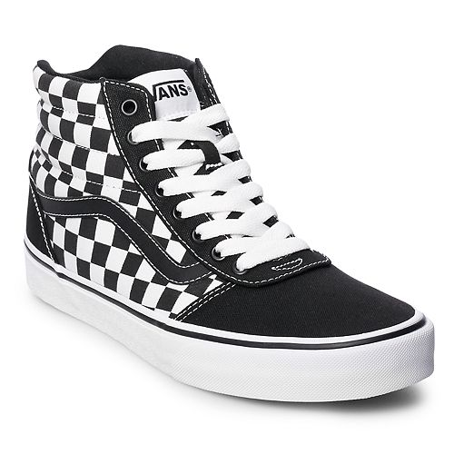7134a417288129 Vans Ward Hi Checkerboard Men s Skate Shoes