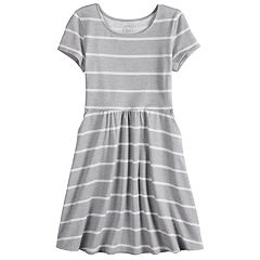 Girls 7-16 SO® Short Sleeve Skater Dress
