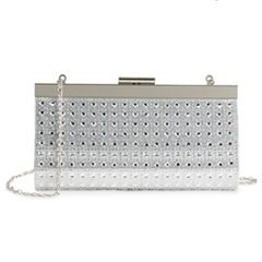 Lenore by La Regale Diamond Pattern Frame Clutch