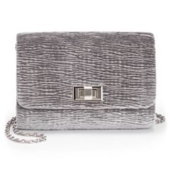 Lenore by La Regale Crinkle Velvet Crossbody