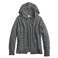Girls 7-16 & Plus Size Mudd® Hooded Cardigan