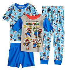Boys 6-12 Super Mario Bros. 4-Piece Pajama Set