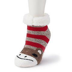 Women's SO® Cozy Warmer Critter & Christmas Slipper Socks