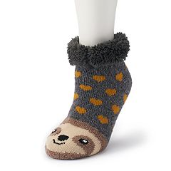 Women's SO® Cozy Warmer Critter & Christmas Slipper Socks