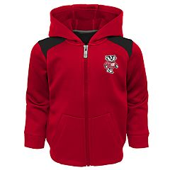 Toddler Boy Wisconsin Badgers Play Action Performance Fleece-Lined Zip-Up & Pants Set