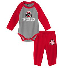 Baby Ohio State Buckeyes Future Starter Bodysuit & Pants Set