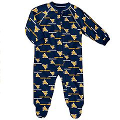 Baby West Virginia Mountaineers Raglan Zip-Up Coverall