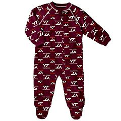 Baby Virginia Tech Hokies Raglan Zip-Up Coverall