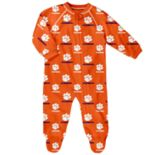 Baby Clemson Tigers Raglan Zip-Up Coverall