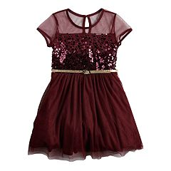 Girls 4-6x Knitworks Sequined Tulle Dress