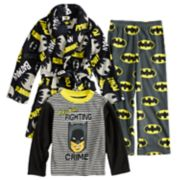 Boys 4-8 Batman 3-Piece Fleece Pajama Set