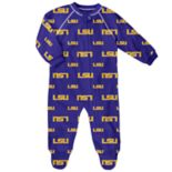 Baby LSU Tigers Raglan Zip-Up Coverall