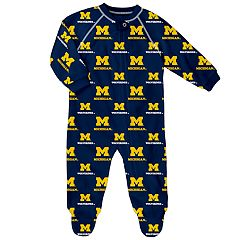 Baby Michigan Wolverines Raglan Zip-Up Coverall