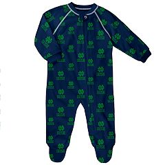 Baby Notre Dame Fighting Irish Raglan Zip-Up Coverall