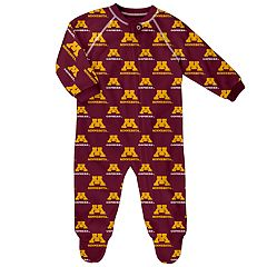 Baby Minnesota Golden Gophers Raglan Zip-Up Coverall