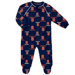 Baby Syracuse Orange Raglan Zip-Up Coverall