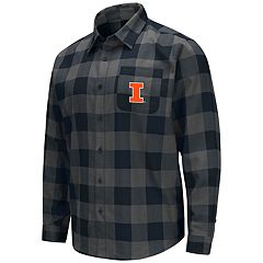 Men's Illinois Fighting Illini Plaid Flannel Shirt