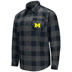 Men's Michigan Wolverines Plaid Flannel Shirt