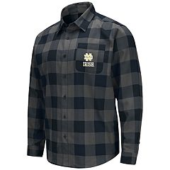 Men's Notre Dame Fighting Irish Plaid Flannel Shirt