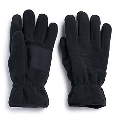 Men's Apt. 9®  Mixed Media Fleece Touchscreen Gloves
