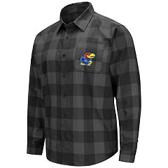 Men's Kansas Jayhawks Plaid Flannel Shirt