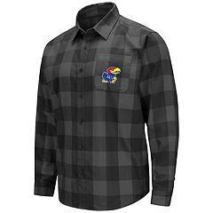 Men's Kansas Jayhawks Plaid Flannel Shirt