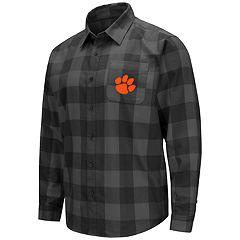 Men's Clemson Tigers Plaid Flannel Shirt