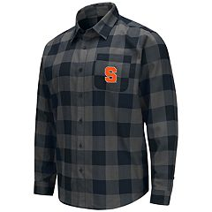 Men's Syracuse Orange Plaid Flannel Shirt