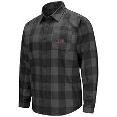 Men's LSU Tigers Plaid Flannel Shirt