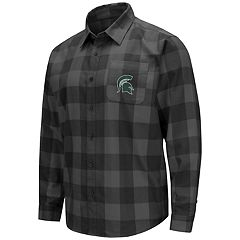 Men's Michigan State Spartans Plaid Flannel Shirt