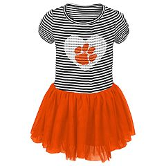 Toddler Girl Clemson Tigers Sequin Tutu Dress
