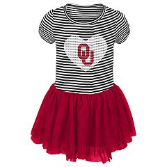 Toddler Girl Oklahoma Sooners Sequin Tutu Dress
