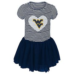 Toddler Girl West Virginia Mountaineers Sequin Tutu Dress