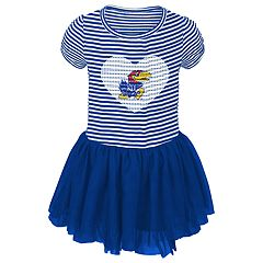 Baby Girl Kansas Jayhawks Sequin Tutu Dress