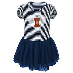 Baby Girl Illinois Fighting Illini Sequin Tutu Dress
