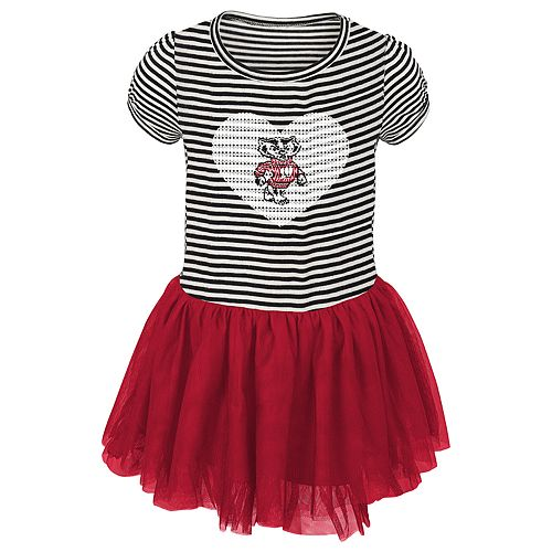 Toddler Girl Wisconsin Badgers Sequin Tutu Dress